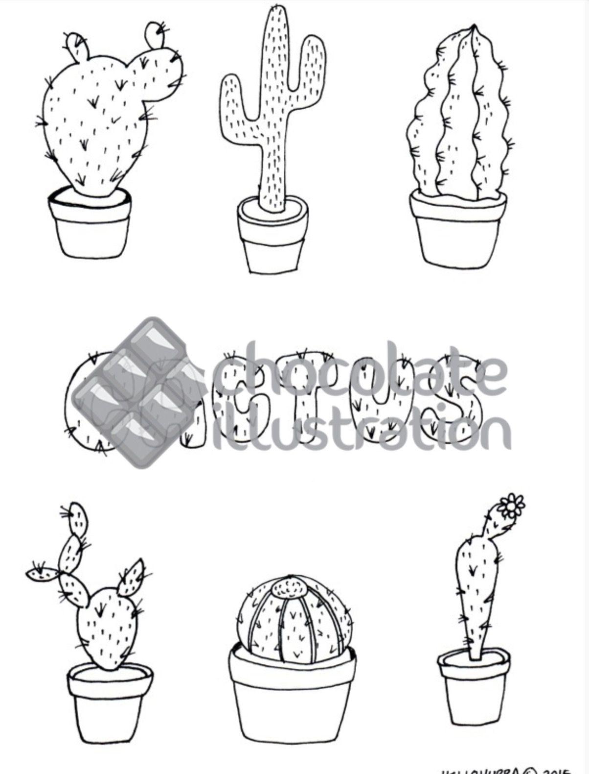 Los cactus de Hurra son ideales para colorear. ¿Te apetece? Los ...