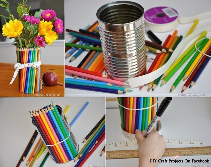 Color Pencil Flower Vase - #color #flower #Pencil #souvenir #Vase #vaseideen