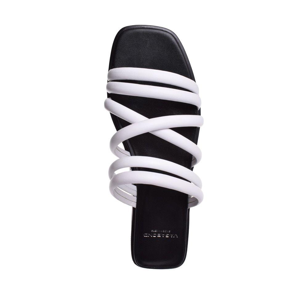 835a43e2016 Vagabond Bonnie Strappy Leather Platform Slides - White