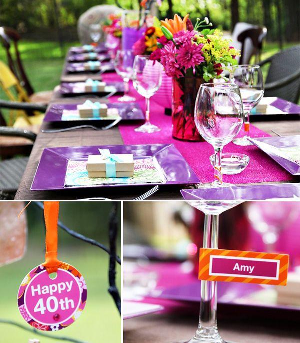 Superior 40th Birthday Dinner Party Ideas Part - 12: Playful U0026 Vibrant 40th Birthday Celebration. Birthday Dinner PartiesIdeas  ...