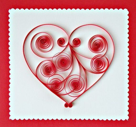 Valentine's Day Quilling Ideas #quilling