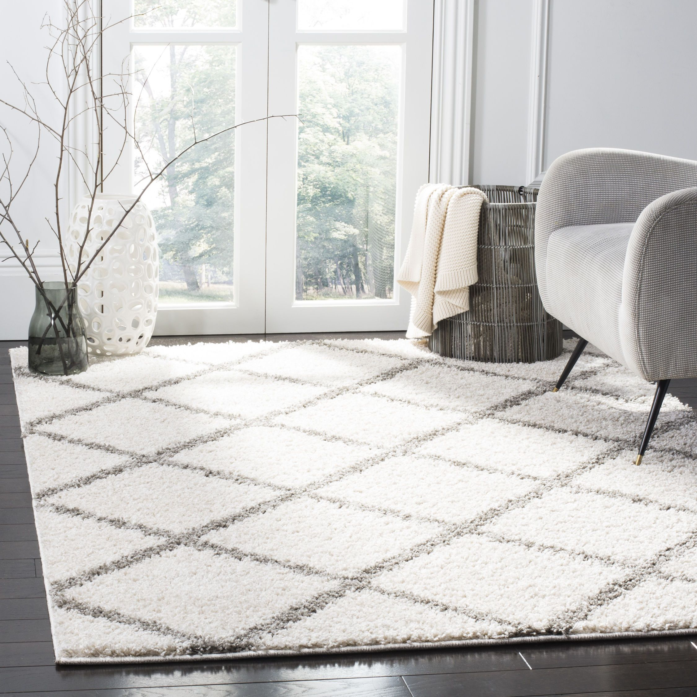 Sg169b Color Ivory Gray Size 3 X 5 Grey White Rug Rugs