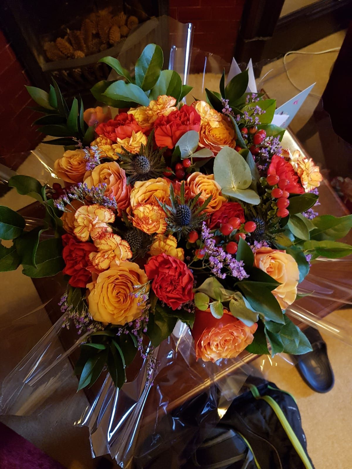 Flowers Dad Ordered For Mum For Their 35th Wedding Anniversary Gorgeous Autumnal Colours Fall Bouquets 35th Wedding Anniversary Winter Wedding