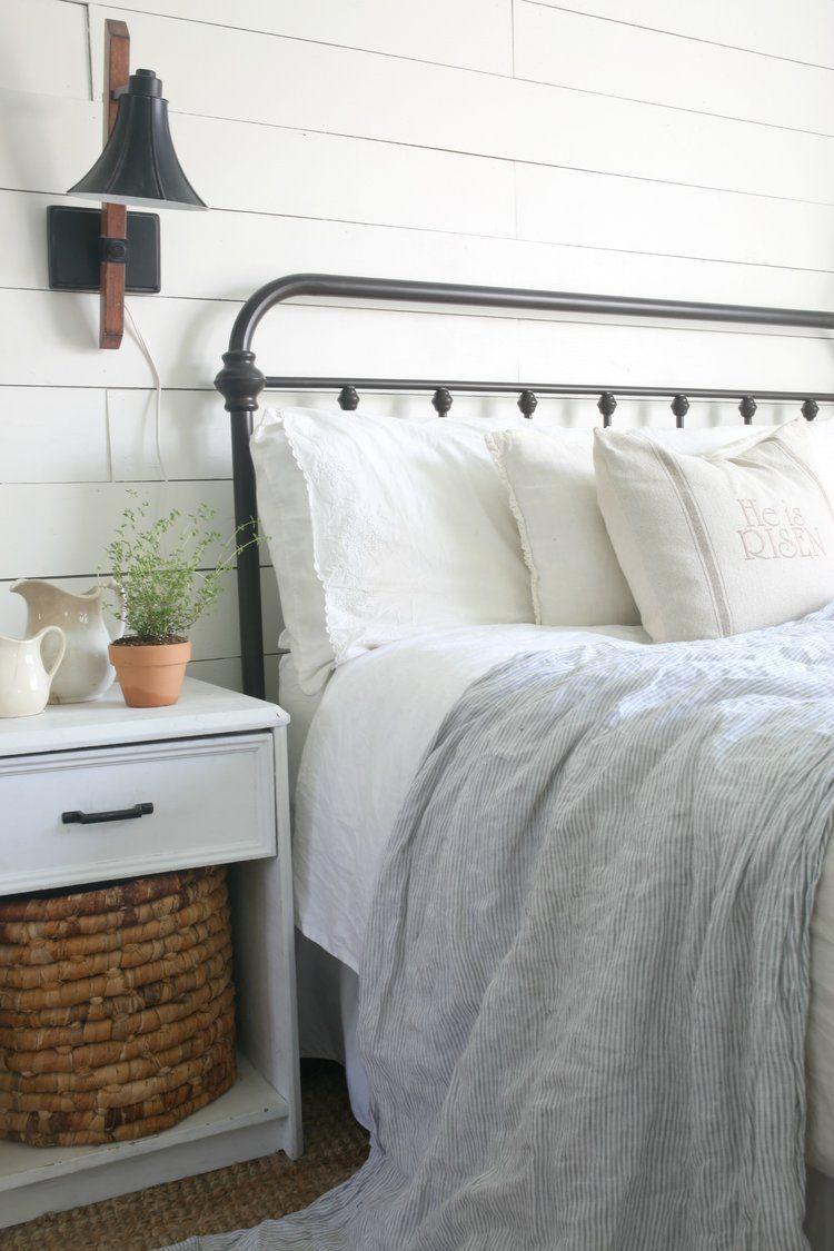 Easter Parade Blog Hop Farmhouse Bedroom Black Bed Frame