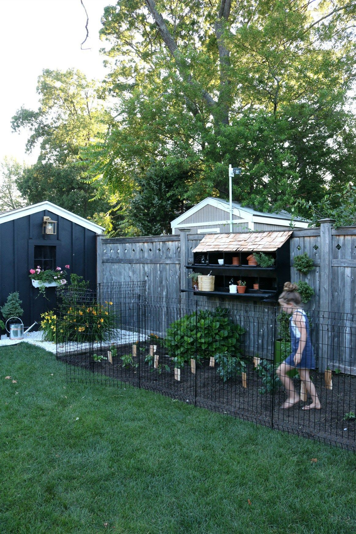 Our New Garden And Tips To Keep Animals Out Nesting With Grace Fenced Vegetable Garden Backyard Home Vegetable Garden