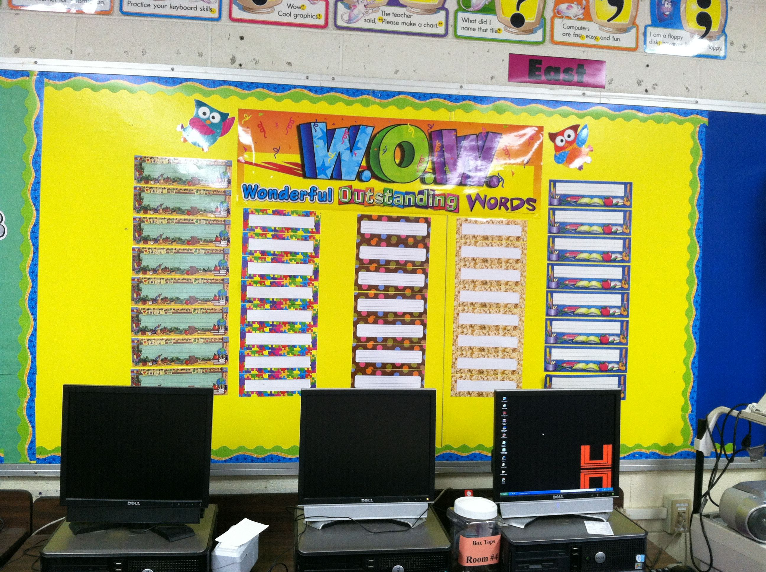 Wipe-off vocabulary wall! Use a different theme for each grade ...