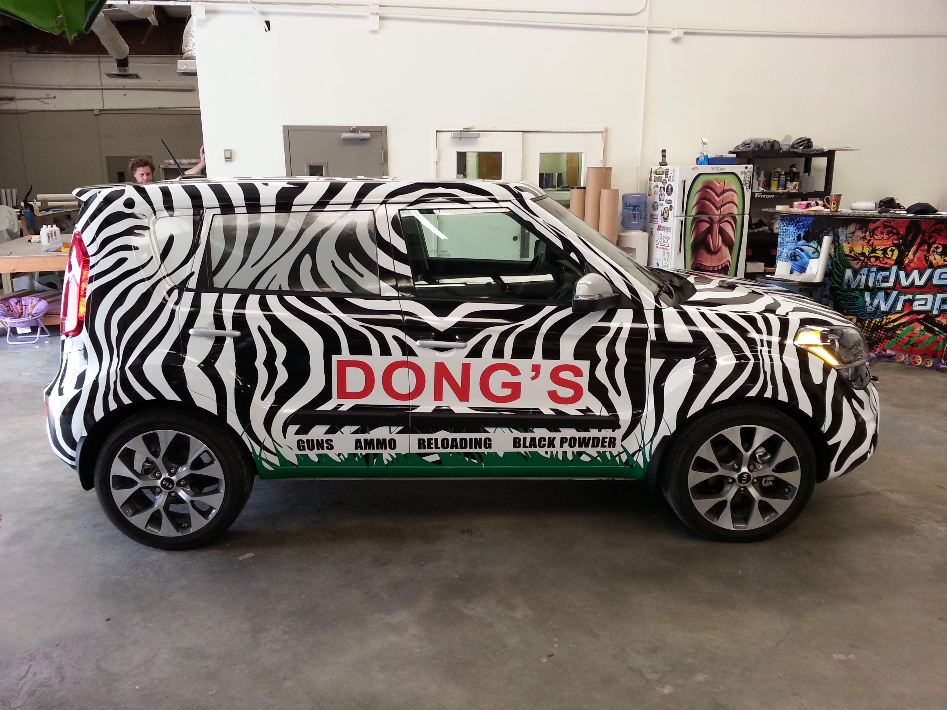 Zebra kia soule vehicle wrap
