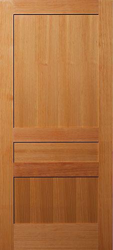 Vertical Grain Douglas Fir 3 Panel Interior Wood Door Nice