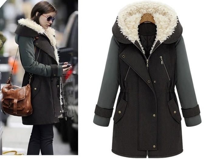 New Arrival Fashion winter Casual Warm Women's Lambs wool hooded ...