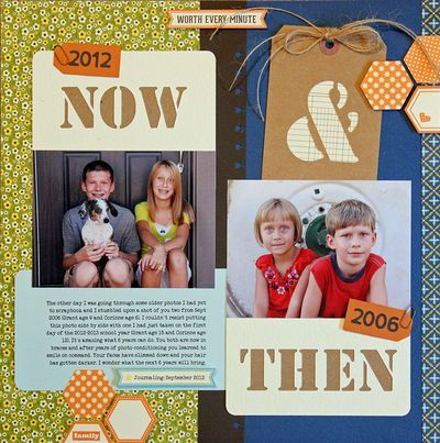 2 photos des enfants à 5 ans d'intervalle