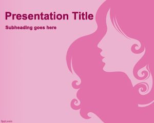 This lady powerpoint template is a free pink template with a female this lady powerpoint template is a free pink template with a female style for presentations about fashion or beauty tips toneelgroepblik Gallery