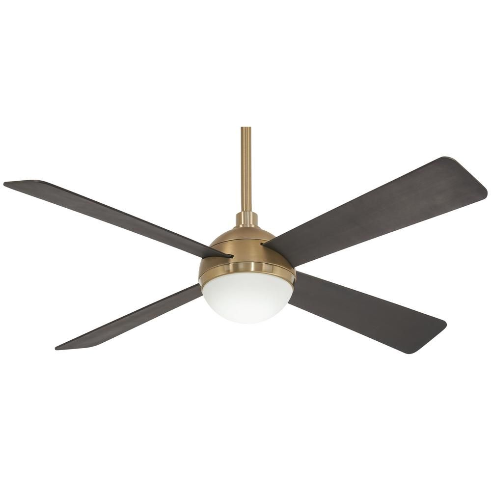 Minka Aire Orb 54 In Integrated Led Indoor Brushed Brass Ceiling