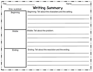 Writing a summary worksheet rcnschool easy writing summary worksheet school stuff pinterest ibookread ePUb