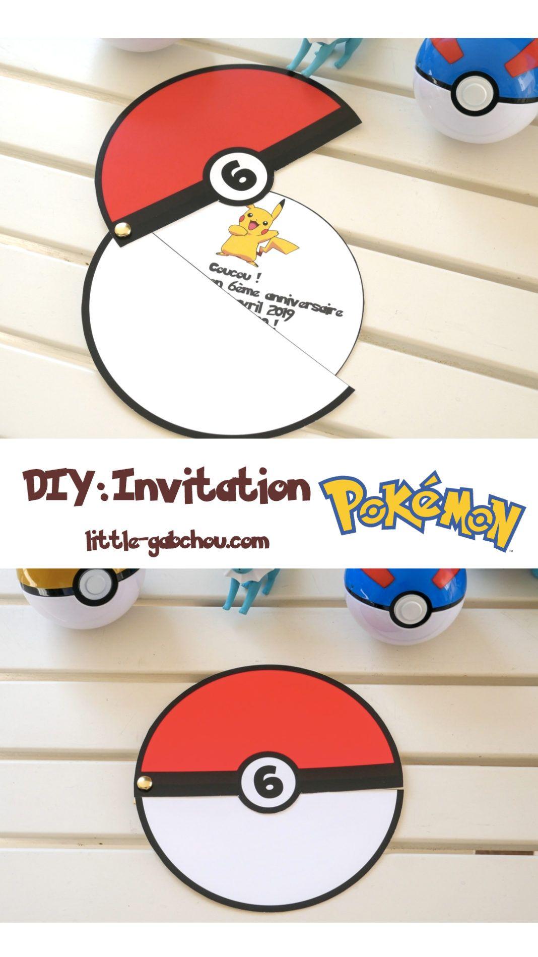 DIY: créer une invitation d'anniversaire mobile sur le thème des Pokemon en 2020 | Invitation ...