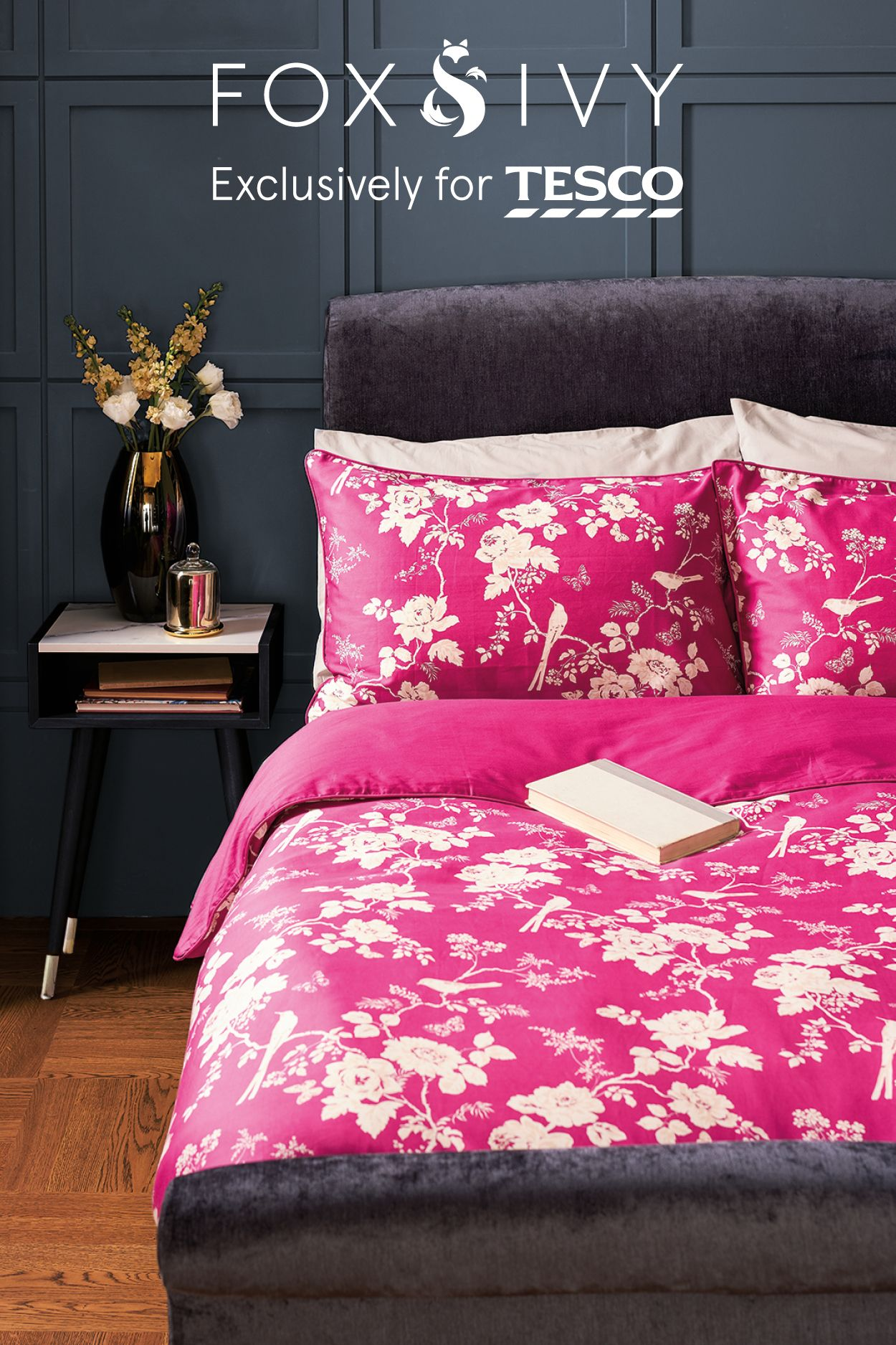 be bold with bedding this bright pink chinoiserie duvet. Black Bedroom Furniture Sets. Home Design Ideas