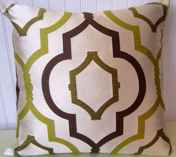 Chartreuse Brown Decorative Pillow Cover40x40 Or 40x40 Or 40x40 Adorable Chartreuse Pillows Decorative