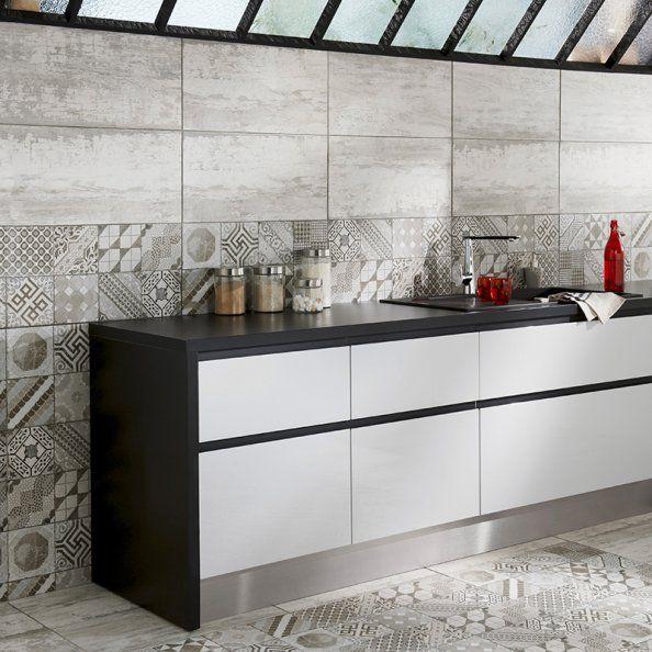 Combinación de azulejos para un diseño muy decorativo #cocinas ...