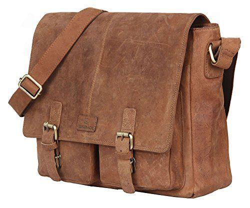 af566fc80e68 Leaderachi 100 Pure Genuine Real Vintage Hunter Leather Handmade Men  Crossover Shoulder Messenger Bag CATANIA BROWN --    AMAZON BEST BUY