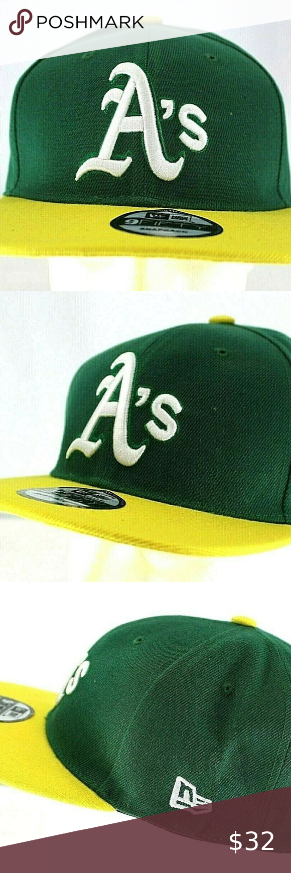 Oakland Athletics Green Yellow Mlb Baseball Cap In 2020 Mlb Baseball Caps Mlb Baseball Oakland Athletics