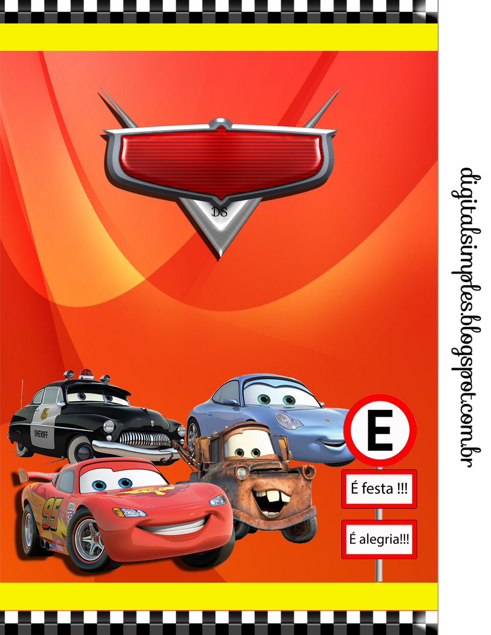 Kit para Fiestas de Cars para Imprimir Gratis. | cars | Pinterest ...