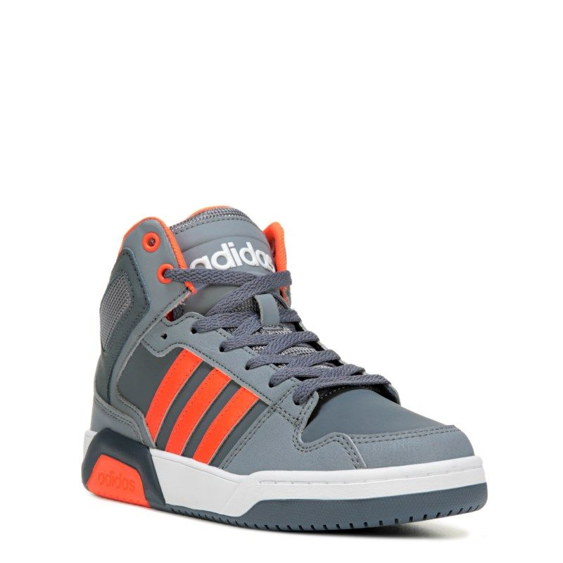 Adidas Kids Neo BB9TIS High Top Sneaker PreGrade School Shoes OnixSolar  OrangeGr