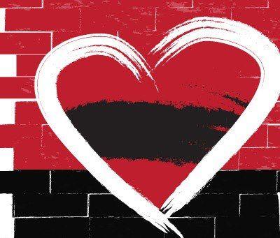 Resultado de imagem para coração rubro-negro
