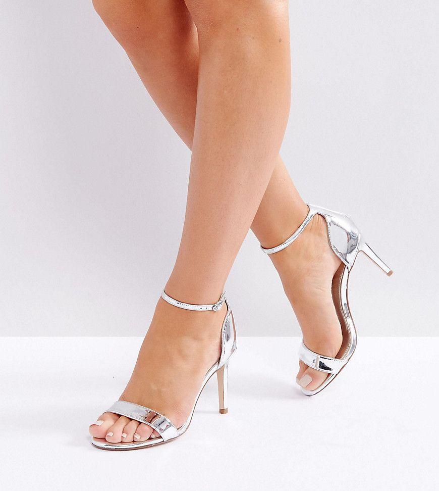 f15eeb0e0e Dune London Wide Fit Mortimer Heeled Sandals - Silver | ###SAPATOS E ...