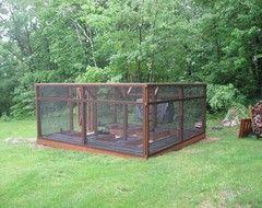 garden enclosure. Enclosure Cat Enclosure, Gardening Ideas, Traditional Landscape, Enclosed Gardens, Garden