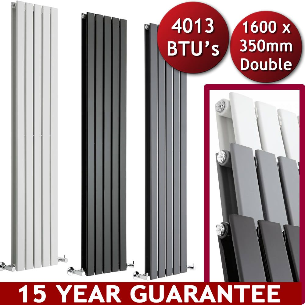 Vertical central heating flat panel designer radiators - Designer vertical radiators for kitchens ...