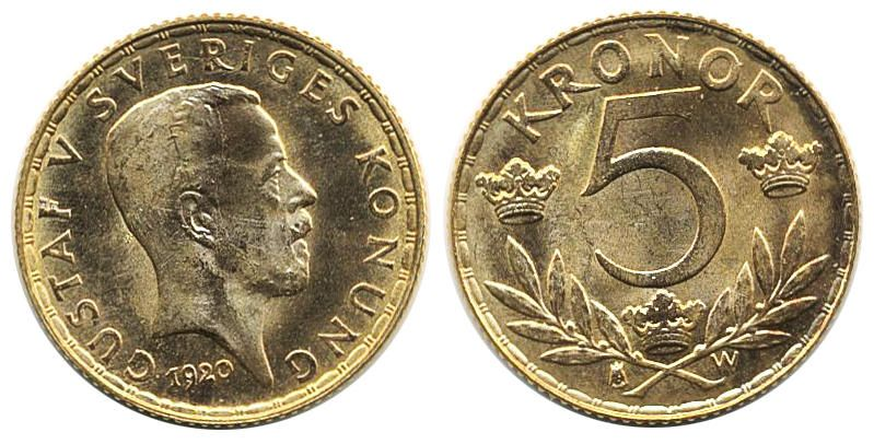 Upcoming 365th Ab Philea Auction January 23rd 2019 One Of The Highlights Is Lot 2286 Sweden Gustav V 1907 1950 5 Krono Munzsammlung Auktion Medaillen