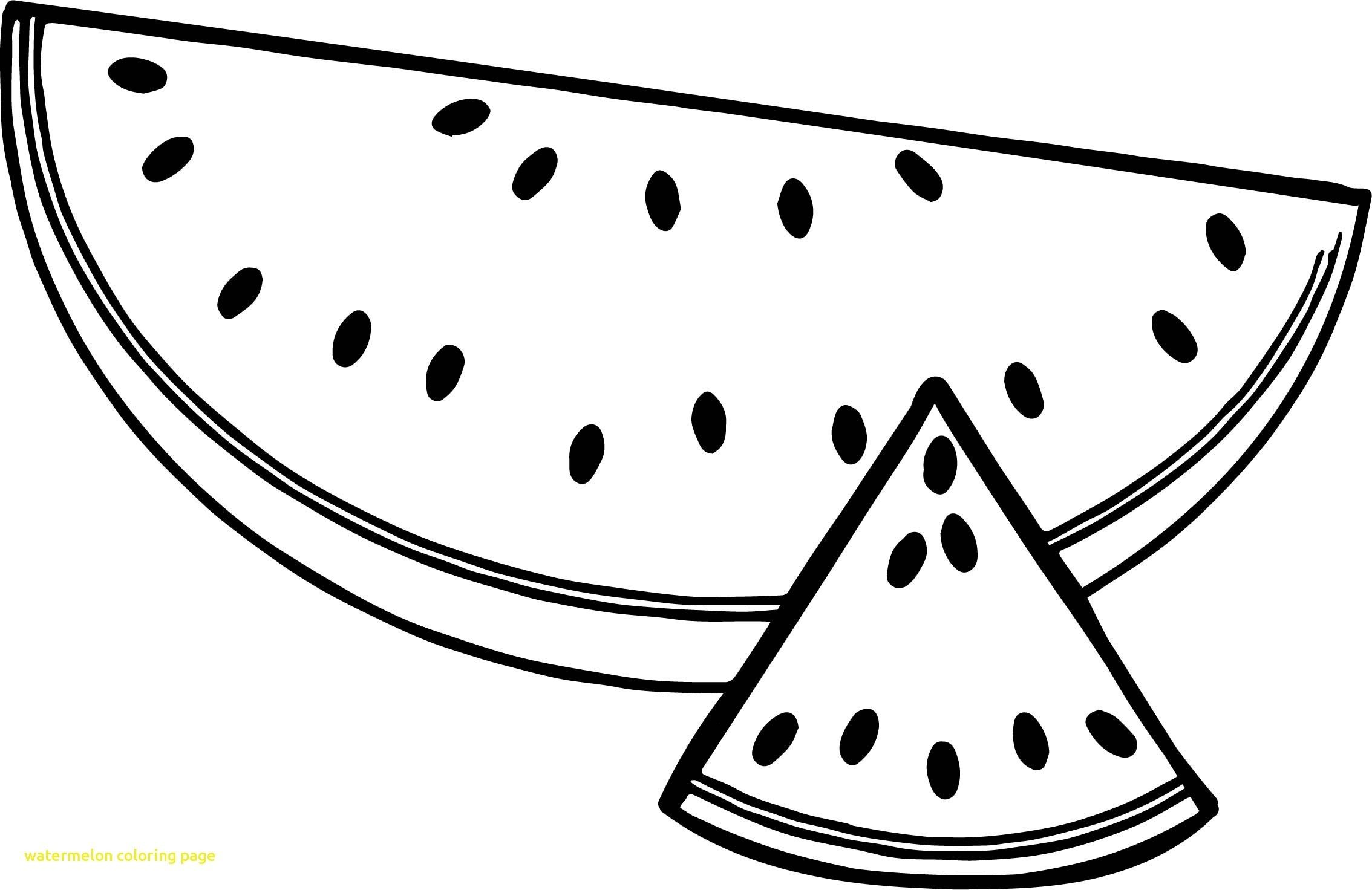 Awesome Watermelons Coloring Pages For Kids Fruits