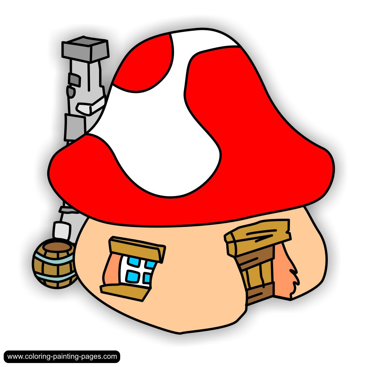 Smurf Village Houses  smurfs  Pinterest  Village houses and House