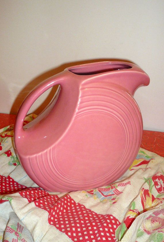 Vintage Fiesta Ware Disc Water Pitcher in by VintageReinvented