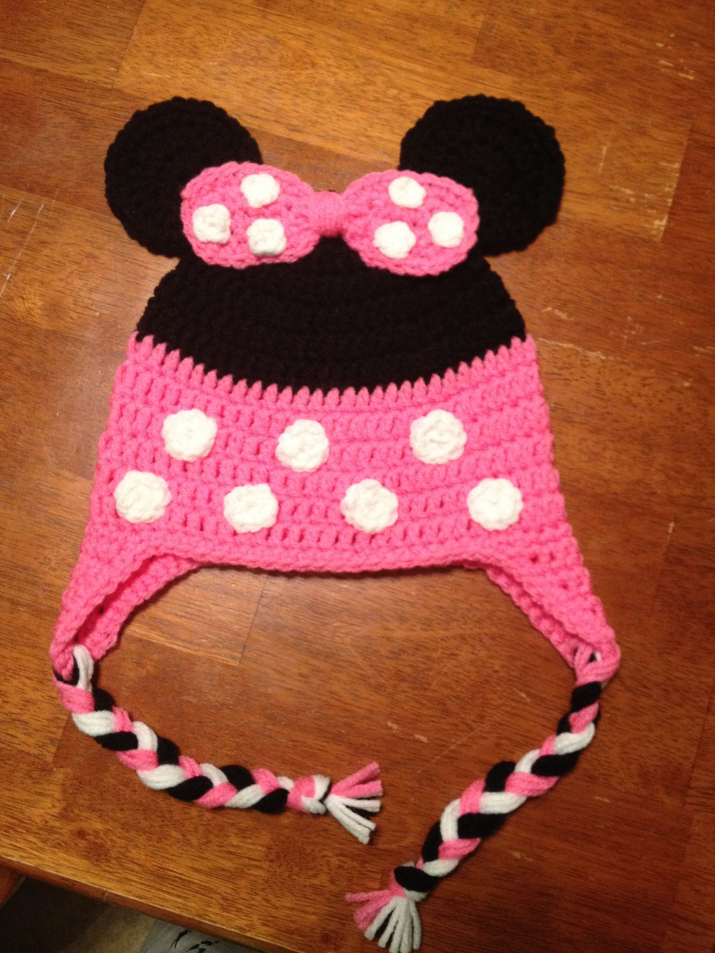 Crochet Minnie Mouse hat | My creations | Pinterest | Minnie mouse ...