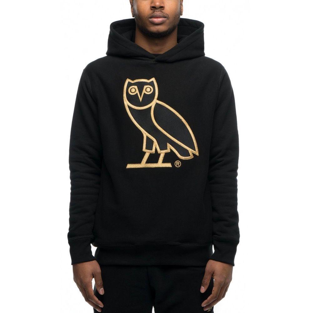 7c25816f38e7 RARE OVO Hoodie OG Logo Hoodie Black Gold Size Large L Owl Drake Drizzy  (eBay Link)