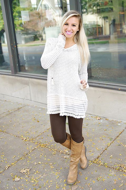Ivory multi long sleeve knitted hoodie with lace detail.
