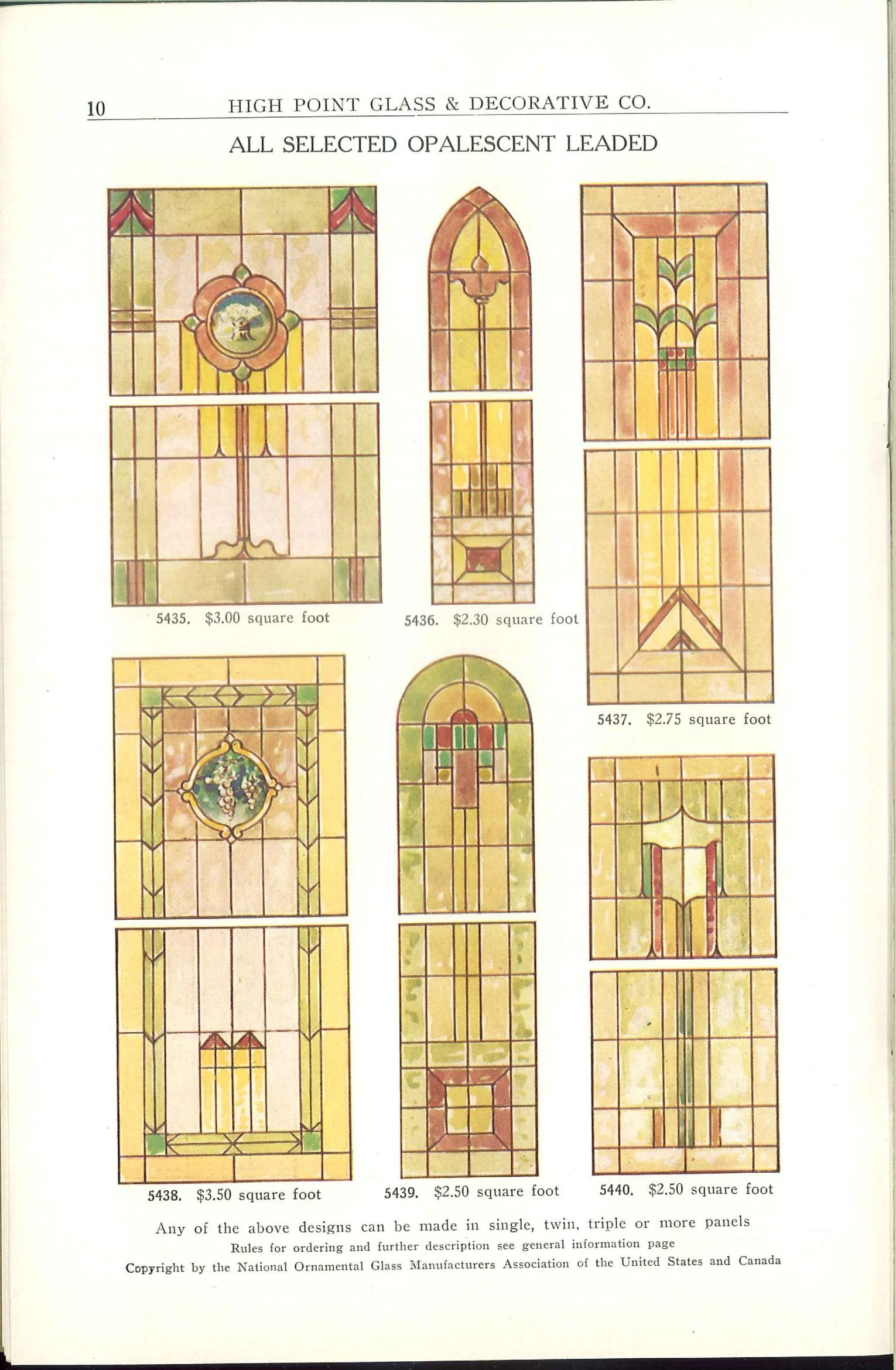 International art glass catalog : church
