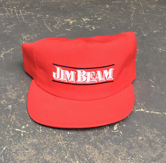 633ca80d Vintage Jim Beam Snapback Hat - Red - Made in USA | Products ...