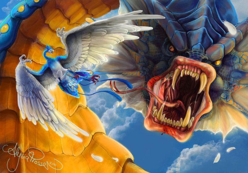 IPL Altaria vs Gyarados by Leashe.deviantart.com on @deviantART