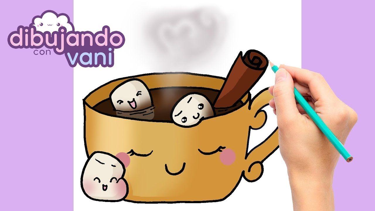 Como Dibujar Taza De Chocolate Kawaii Dibujos Imagenes Faciles