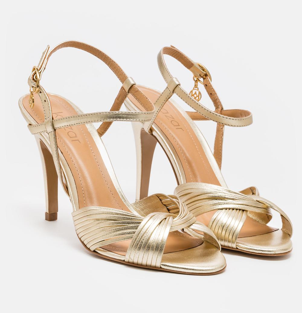 Zlote Sandaly Slubne Z Plecionymi Paskami 50864 11 13 Z Kolekcji 2020 Sklep Internetowy Kazar Shoes Sandals Fashion