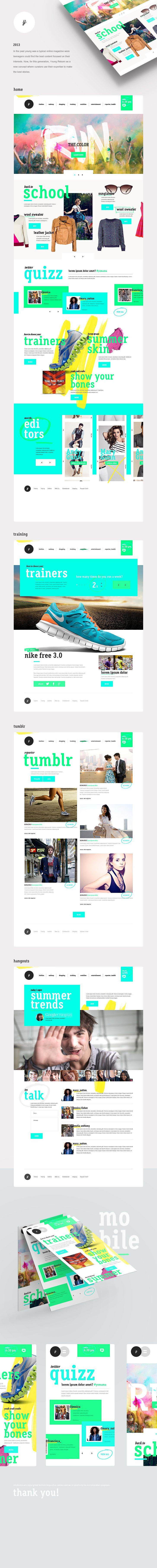 Online Magazine For Young Audiences By Isabel Sousa Intranet Design Web Design Tendances Web