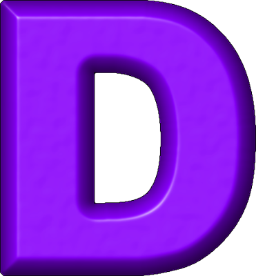 Purple letter d | D is for | P...