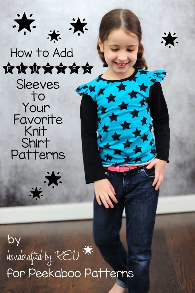 How To Add Sleeves To Your Knit Shirt Patterns Peekaboopages