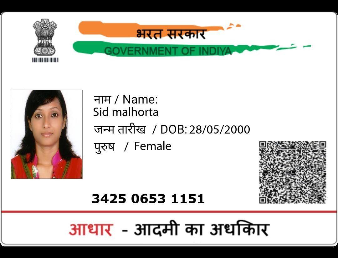 Adhar Card Aadhar Card Cards Birth Certificate