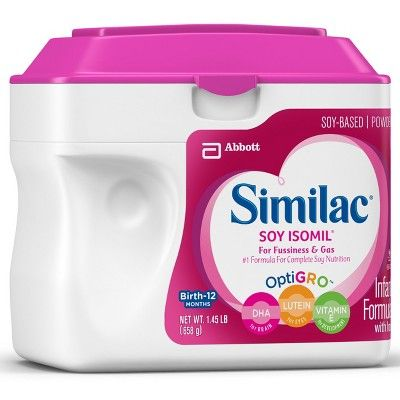 Similac Soy Isomil For Fussiness And Gas Infant Formula With Iron