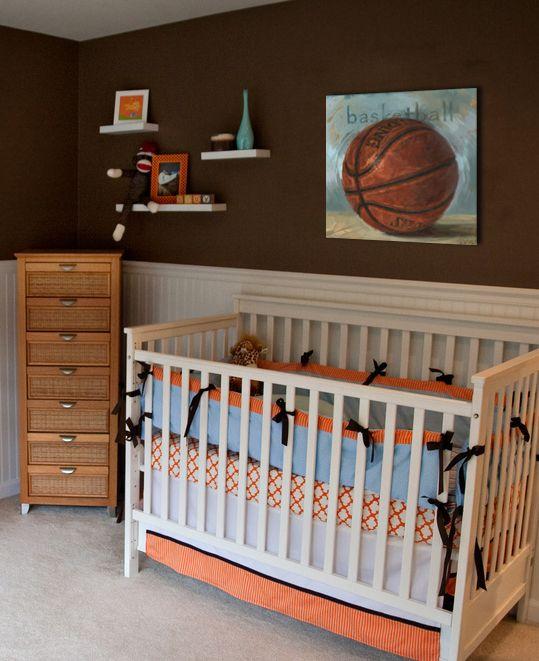 Sports Baby Boy Nursery Ideas: #Basketball #Nursery #Boys #DarrenGygi