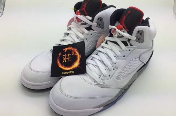 3ea57665c8c2 Our First Look At The Air Jordan 5 White Cement