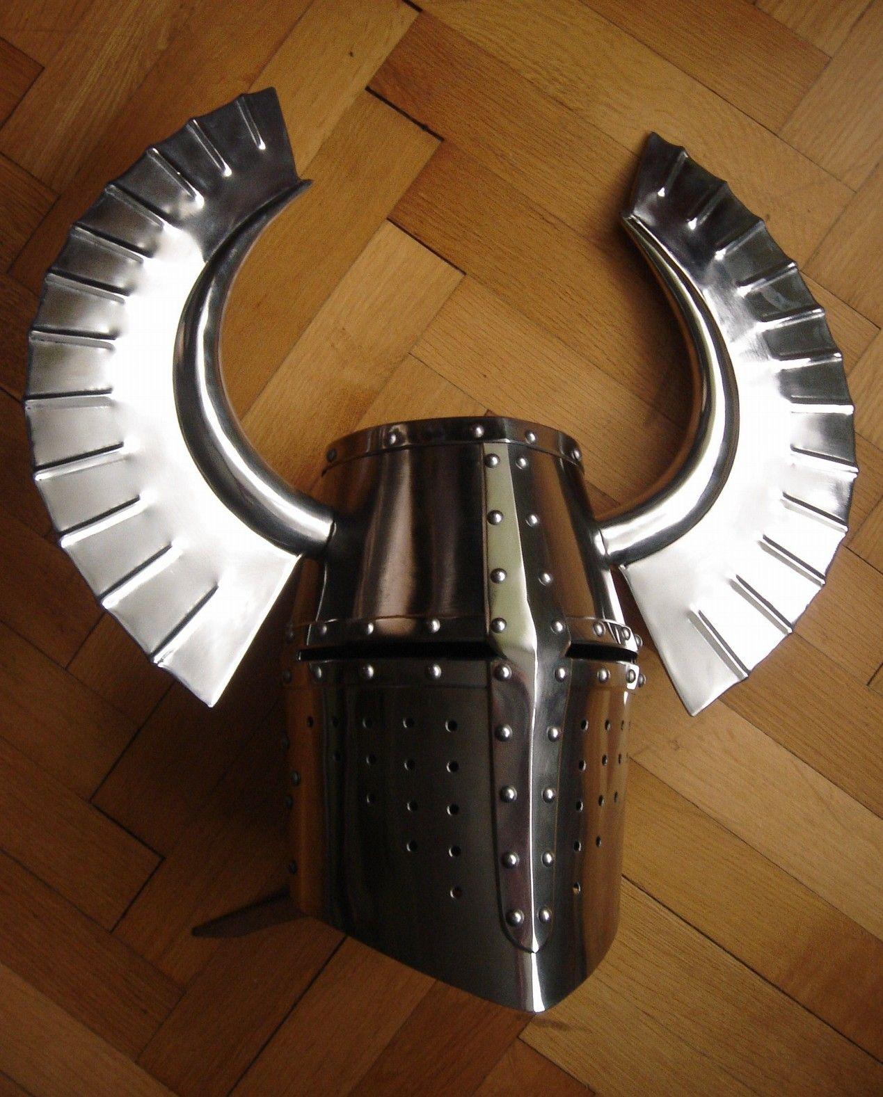 Medieval Helmets, Metal Horns, Helmet Armor