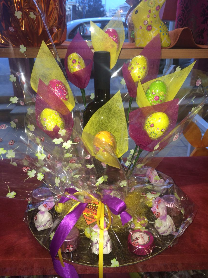 Easter chocolate bouquet καλάθι Πάσχα Chocolate